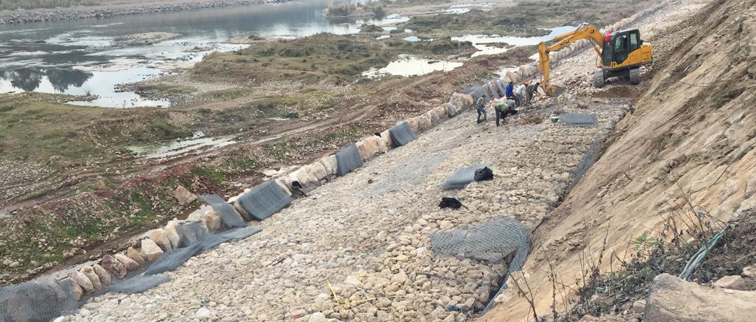 黄河防洪工程鄂尔多斯段施工现场