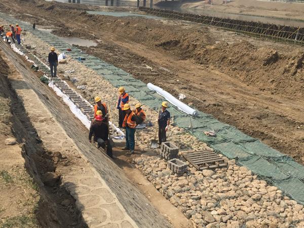 北京市通州区凉水河治理工程现场
